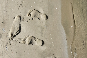 zand close-up op zandstrand